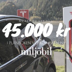 En miljöbil kommer bli belönad med nya malusbonusen