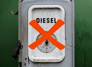 Dieselbilen förbjuds